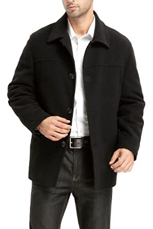 BGSD Men's 'Matthew' Wool Blend Car Coat (Regular Big & Tall) at ...