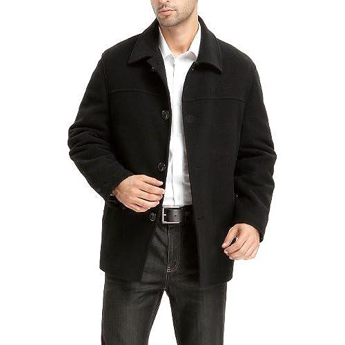 7a761e74660 ... Joseph Abboud Tan Modern Fit Twill Car Coat –. BGSD Men s  Matthew   Wool Blend Car Coat – Black LT