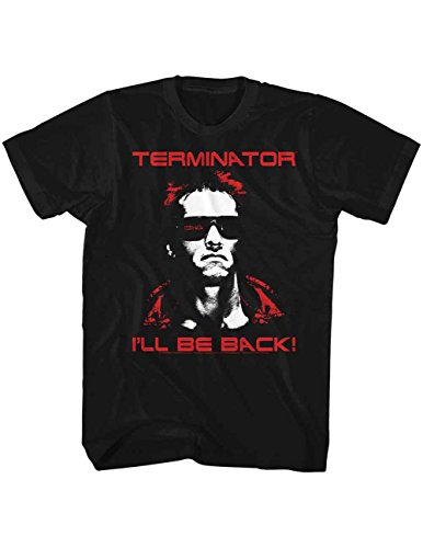 Terminator Arnold I'll Be Back T-Shirt, Officially Licensed - L to XXL