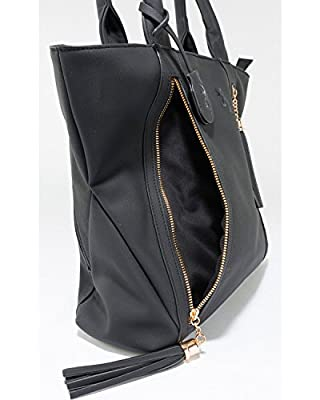 Browning Alexandria Concealed Carry Purse, Premium Faux Leather, Available in Black, Brown, and Grey, Large