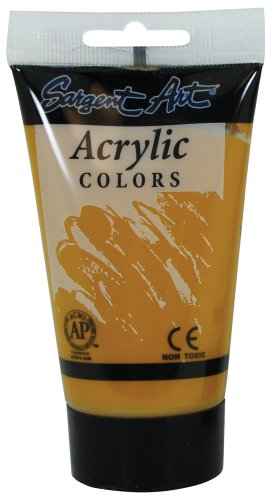 Sargent Art 23-0292 75-Millilitre Tube Acrylic Paint, Yellow