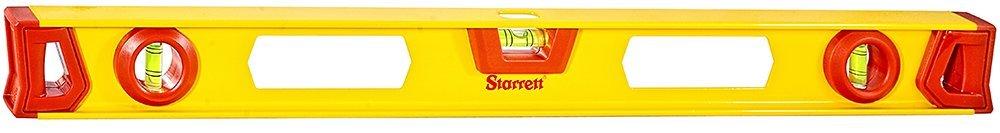 Starrett KLIS24-N Aluminum I-beam Level with 3 Plastic 360° Vials, 24'' Length by Starrett