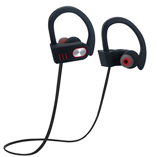 Wireless Sport Headphones, Bluetooth Earphones Waterproof, Noise Cancelling, Waterproof Stereo Headset with Mic for Gym, Running, Workout