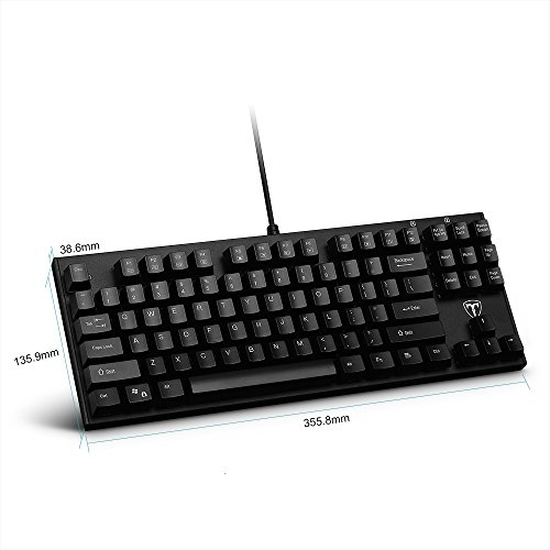 pictek mechanical keyboard wired gaming keyboard blue import it all. Black Bedroom Furniture Sets. Home Design Ideas