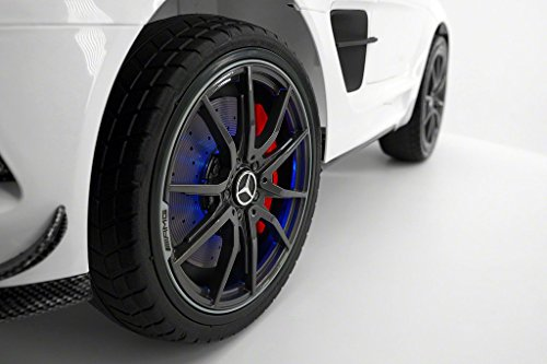Replica SLS Style Race Car White Wheel Side View