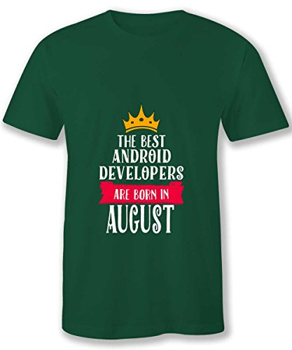 Hom Android Developers T Shirts Mens Android Developers Born In August
