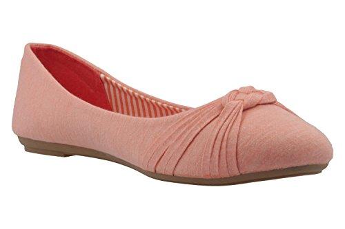 Amy 63-0233-0000 fitters ballerine rose en jersey ballerines ballerine tourne au son de toile de lin