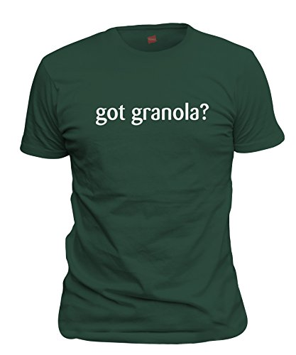 (ShirtLoco Men's Got Granola T-Shirt, Forest Green Extra Large)