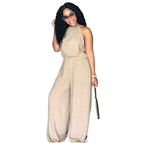 Juqilu Mujer Mono Jumpsuits Elegant Verano Pantalones Largos para Fiesta Playa Beachwear y Clubwear Casual Piernas Anchas S-2XL 2#