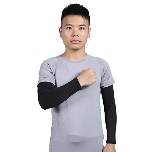 Hi crazystore Arm Warmers Sun UV Protect Sleeves Compression Arm Sleeves
