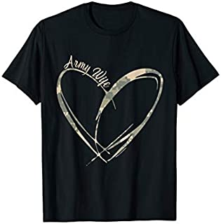 [Featured] Army Wife Heart Gift | Proud Military Wife Veteran's Day in ALL styles | Size S - 5XL