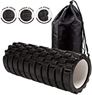Dr. Health (TM) 13 Inch Deep Tissue Grid Yoga Fitness Massage Foam Roller (Black)