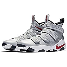 NIKE Lebron Soldier XI Men Basketball Metallic Silver/White/Black/Varsity Red 897646-007 (10)