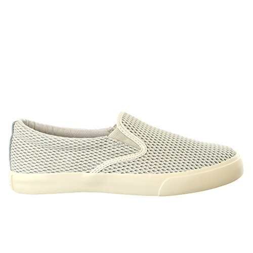 Lauren Ralph Lauren Women's Cedar Fashion Sneaker, Light Grey Diamond Grid Nubuck, 8.5 B US
