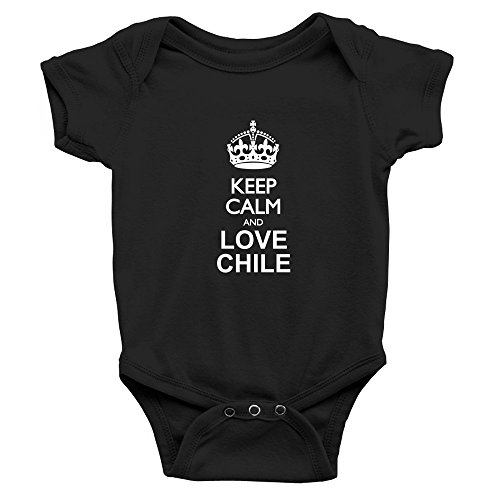 Teeburon Keep calm and love Chile Baby Bodysuit
