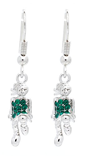 IRISH DANCE EARRINGS - IRISH DANCER EARRINGS DANGLE - MORE COLORS AVAILABLE - GREEN ()