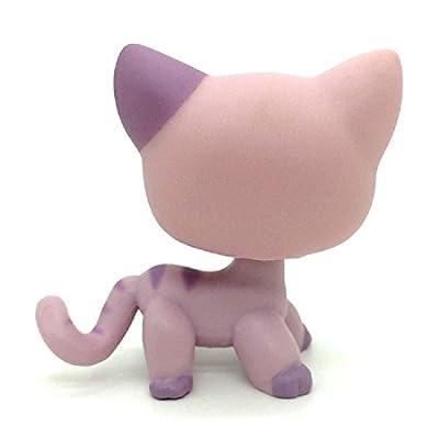 ZAD Rare Light Purple Siamese Short Hair Kitty Cat LPSs #933: Toys & Games