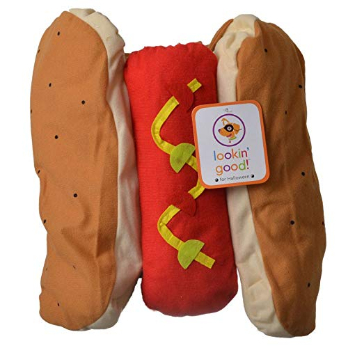 Fashion Pet Lookin' Good Halloween Adorable Pup Hotdog Costume Trick or Treat (Medium - (Fits 14