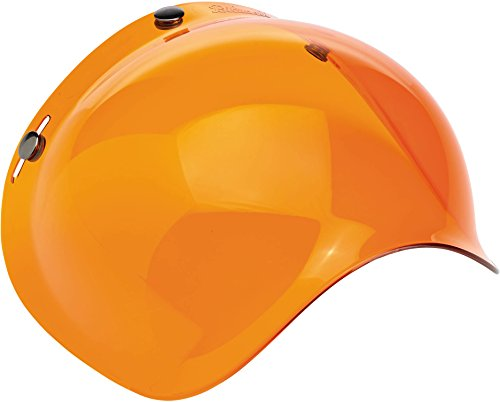 Biltwell Solid Bubble Shield (Amber, One Size)