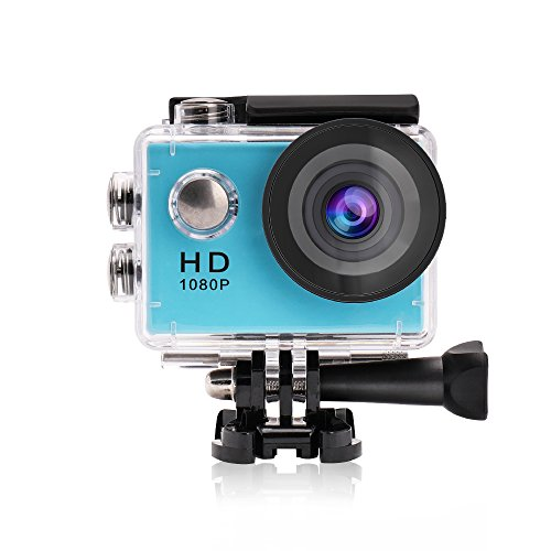 Corner Mount Adapter - Yuntab Action Camera Sport DV 1080P Mini 30-Meter Waterproof 2 inch TFT LCD HD 5MP Helmet Camera Cam Extreme Action Camcorder With Battery, Charger and Accessories (Blue)