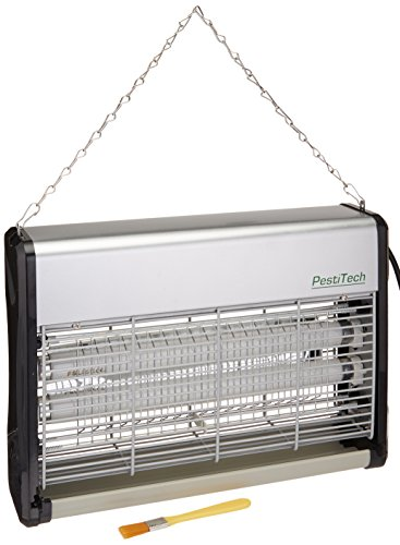 PestiTech PTH-8 20W Electronic Indoor Insect Killer, Bug Zapper, Mosquito Killer 20W with Unique UV Backlight Reflector Panel, Silent Operation