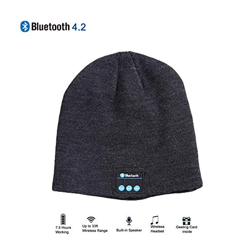 1ff02056fa2 Make Your Life Bluetooth Beanie Music Gift Snowboard Hat with Removable  Wireless Headset Headphone Earphone Cap Speaker Mic for Outdoor Skiing  Running Music ...