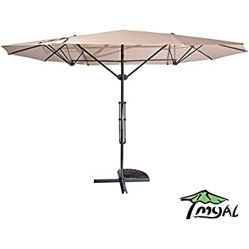 Amazon Com Best Choice Products 15 Twin Patio Umbrella