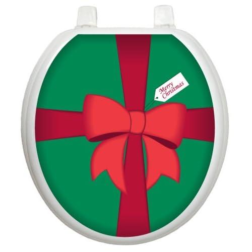 best Toilet Tattoos TT-X601-R Christmas Gift Box Design, Round