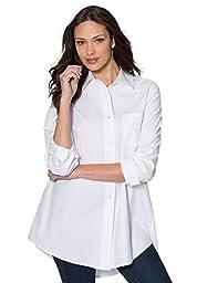 Women\'s Plus Size The Boyfriend Shirt White,32 W
