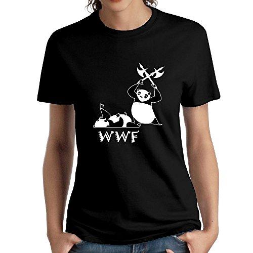 VVTV56E Angry Panda Bear Wrestling Female Fashion Designed Short Sleeve Cool T Shirts by VVTV56E