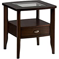 Jofran Montego Merlot Square End Table with Small Drawer