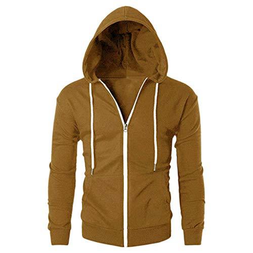 Lookatool LLC Mens Casual Slim Fit Long Sleeve Zipper Hoodie with Pocket Outwear -