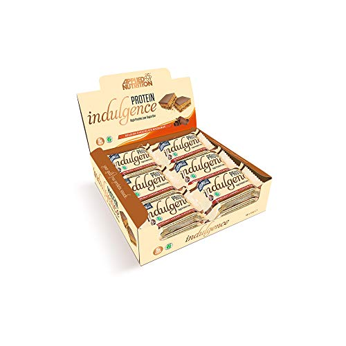 Applied Nutrition Indulgence Bar proteïne reep eiwit eiwitreep 12x50g (hazelnoot caramel – hazelnoot karamel)