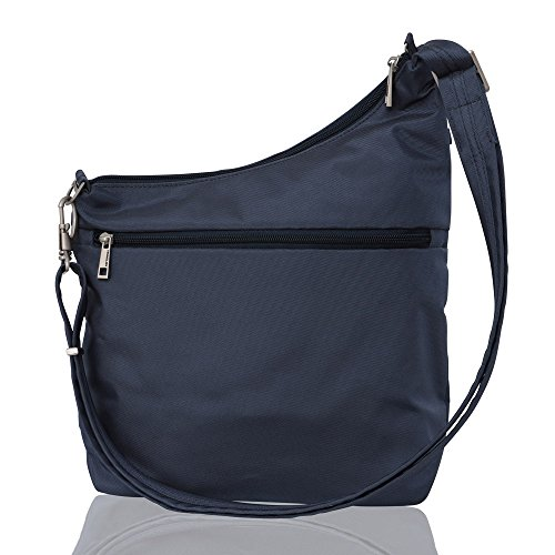 Anti Crossbody Color Straight 3 Exclusive Color Signature Compartment Blue theft Pocket Travelon blue adqxSa