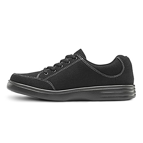Dr. Comfort Riley Womens Therapeutic Extra Depth Athletic Shoe Canvas Lace-up Midnight qayq3zqL