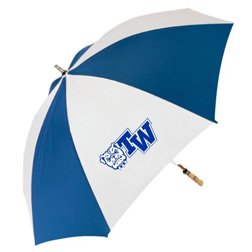 Tennessee Wesleyan 62 Inch Royal/White Umbrella 'Official Logo' by CollegeFanGear