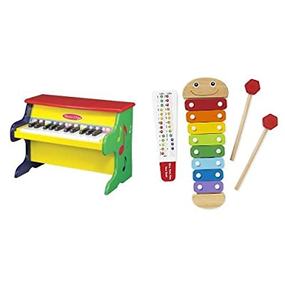 Melissa & Doug Piano & Catepillar Xylophone Bundle: Toys & Games