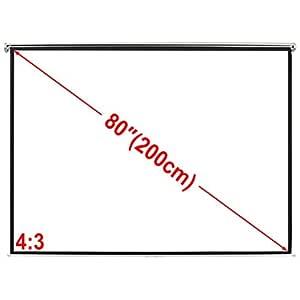 Weilandeal Pantalla Proyeccion Manual 160 X 123 Cm Blanco Opaco 4 ...
