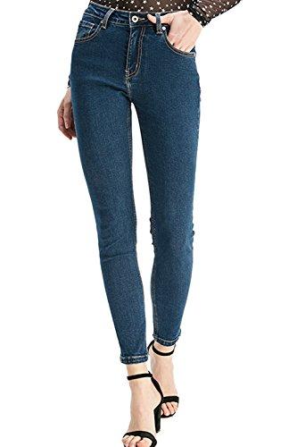 Jeans des Simgahuva lastique Mince Y Femmes Pantalon Crayon Blue Slim Digne qwCdR6C