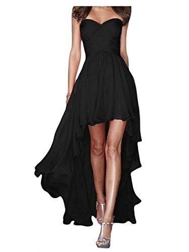 Vestidos Largo Vestido Tirantes Sin Noche Dama Gasa Jaeden Honor De Fiesta Negro dxI4H