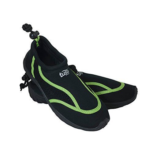 TUSA Sport Slip-On Aqua Shoe, Black/Green, Size 9