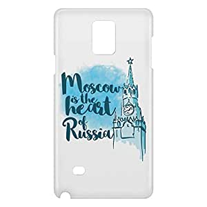 Loud Universe Samsung Galaxy Note 4 3D Wrap Around Moscow Print Cover - White