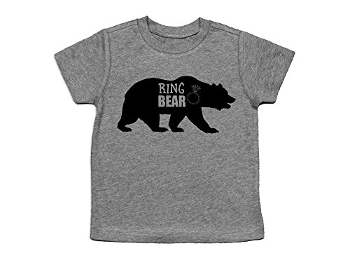 Oliver and Olivia Apparel Ring Bear Shirt Ring Bearer Shirt Ring Bearer Gift (Youth Small (Ring Bearer Bear)