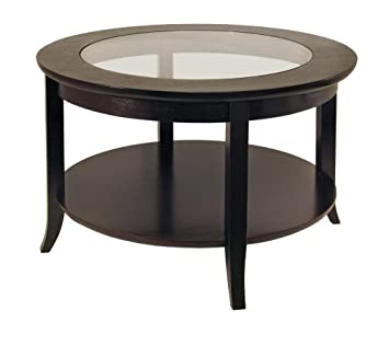 Winsome Wood Round Coffee Table  Espresso. Amazon com  Winsome Wood Round Coffee Table  Espresso  Kitchen