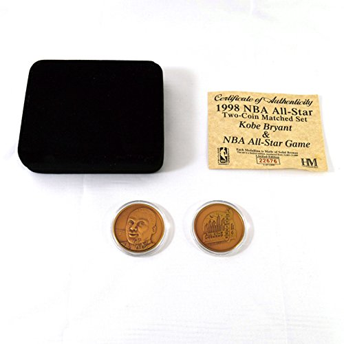 Highland Mint 1998 NBA All Star Kobe Bryant Bronze Two Coin Set # of (Highland Bronze Coin Set)