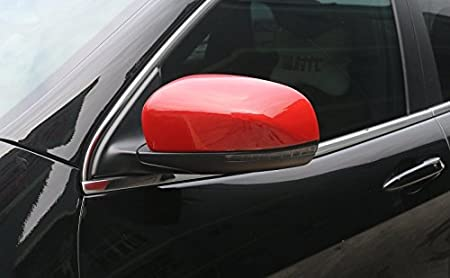 Red Highitem Car Mirror Covers Rearview Mirror Cover Shell Stickers for Jeep Cherokee 2014-2018 Jeep Compass 2017+