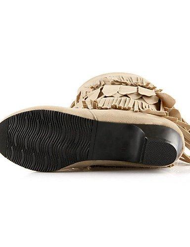 XZZ XZZ XZZ  Damen-Stiefel-Outddor   Lässig   Party & Festivität-Kunstleder-Blockabsatz-Modische Stiefel-Schwarz   Gelb   Beige B01KPZTAYG Sport- & Outdoorschuhe Nutzen Sie Materialien voll aus 8d65fc