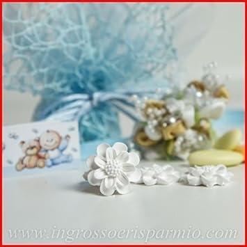 Yeso blanco en forma de flores para detalles de regalo ...