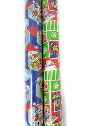 Christmas Wrapping Holiday Paper Gift Greetings 2 Rolls Design Festive Paw Patrol Fire Marshall by Wrapping Paper