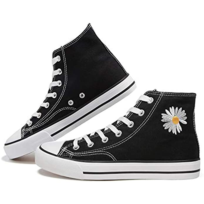 Women's High Top Canvas Shoes Fashion Sneakers Casual Shoes for Walking